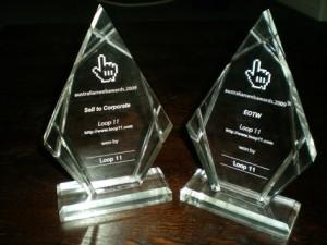 1. Sell To Corporate Award 2. Edge of the web award